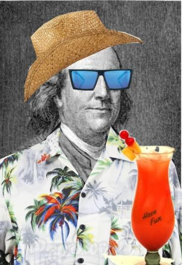 Ben Franklin as a beach bum